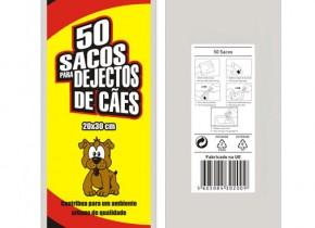 50 Sacos para Dejectos de Cães