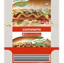 Pão para Hot Dog Continente
